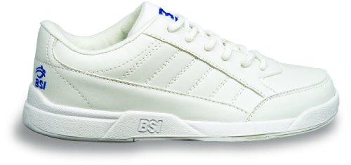 BSI Boy's Basic #532 Bowling Shoes, White, Size 1.0