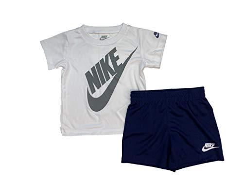 Nike - Juego de camiseta y pantalones cortos de manga corta para niño Dri-Fit (infantil) - - 24 meses