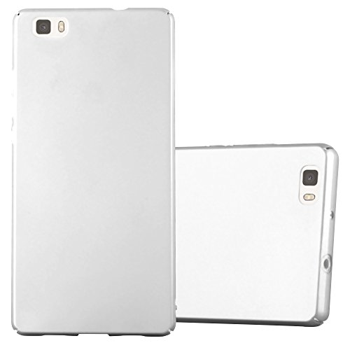 Cadorabo Case Compatible with Huawei P8 LITE 2015 in Metal Silver - Shockproof and Scratch Resistent Plastic Hard Cover - Ultra Slim Protective Shell Bumper Back Skin