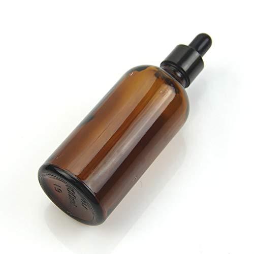 NO LOGO L-Yune, 5-100ML Reagenz Augentropfen Amber Glass Aromatherapy Liquid Pipette Bottle Mehrwegflaschen (Farbe : Glass, Größe : 30ml)