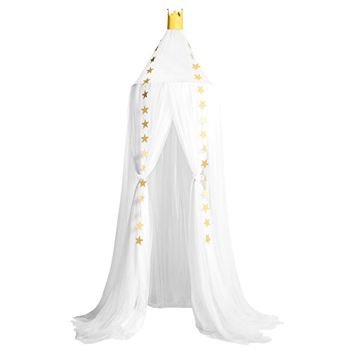 New Kids Bed Canopy Dome Crib Canopy Netting Baby Mosquito Net (White)
