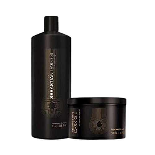 Kit Sebastian Professional Dark Oil - Shampoo 1000ml + Máscara 500ml