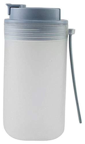 Youdert Botella de Agua con Paja, Botella portátil a Prueba de Fugas con Escala para Fitness, Gimnasio, Camping, Deportes al Aire Libre (Color : Black)