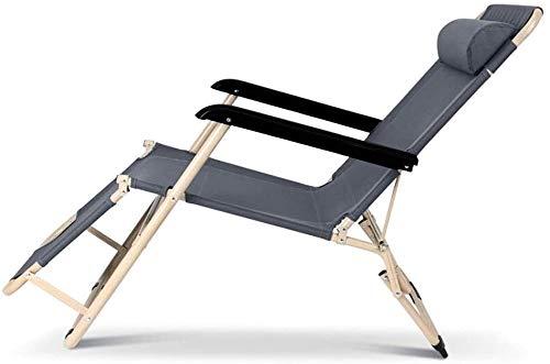 ADHW Silla de respaldo para exterior, silla plegable para jardín, tumbona de jardín, ligera, para interior y exterior