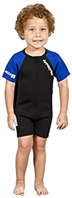 Hyperflex Access Child's and Junior's 2mm Backzip Shorty Wetsuit - Warm, Comfortable Kid's Springsuit with 4-Way Stretch Neoprene and SPF Protection-Adjustable Collar and Flat Lock Construction