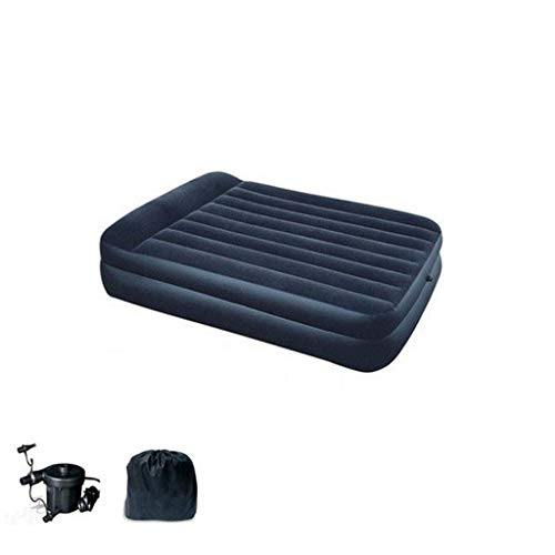 Best Bargain Inflatable bed, Double air Bed Portable Mattress Outdoor Lazy Bed with Electric Pump -2...