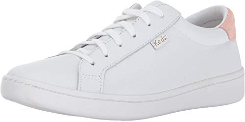 Keds Damen Ace Core Leather Oxfords, Weiß (White/Blush), 40 EU