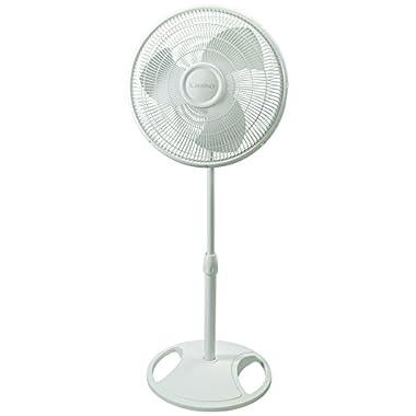 Lasko 2520 Oscillating Stand Fan, 16 , White