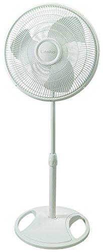 Lasko 2520 Oscillating Stand Fan,White, 16 Inch
