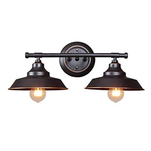 zcyg Lámpara de Pared Tapa la Olla Retro lámpara de Pared de Hierro Forjado Aplique de Pared de luz Montaje en el Dormitorio, Cuarto de baño, WC, Bar