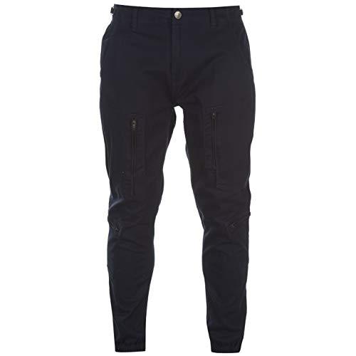 No Fear Mens Cuffed Caldera Pantalones Chino Chinos Pantalones Zip