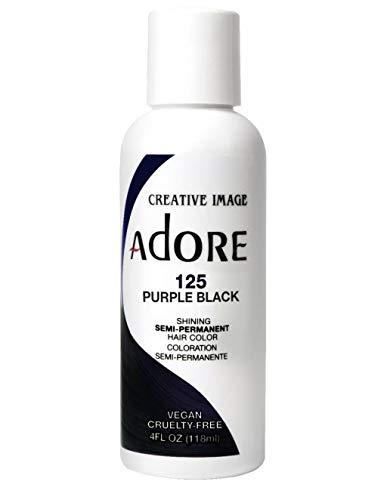 Adore Semi-Permanent Haircolor #125 Purple Black 4 Ounce (118ml)