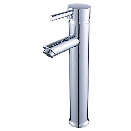 Luxice Single Handle Contemporary Bathroom Lavatory Vanity Vessel Sink Faucet Chrome Tall Spout Deck Mount Bathtub Faucet Mixer Taps Cheap Discount Plumbing Fixtures Single Hole Faucet