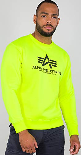 Alpha Industries Basic Sweatshirt Neon-Gelb M