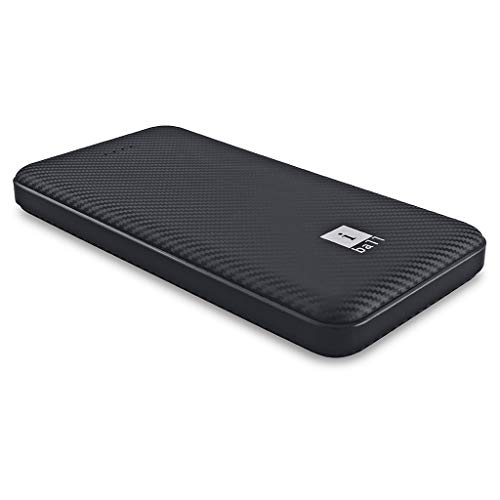iBall 10000 mAh Powerbank (IB-10000LP), Dual USB Output, Black