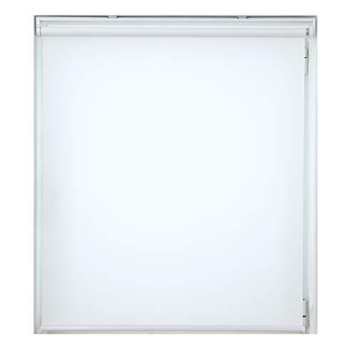 ロールスクリーン 非遮光 ホワイト 幅90×丈220cm ロールカーテン 透過性 間仕切り 目隠し パーテーション 衝立 チェーン式 簡単取付け シンプル 既成品