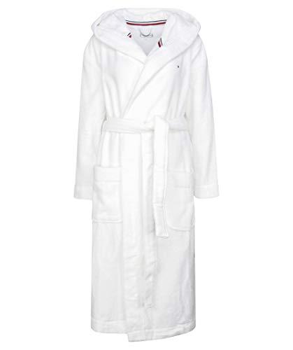 Tommy Hilfiger Damen Hooded Bathrobe Pyjamaset, Klassisches Weiß, SM