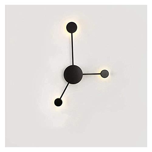 PQQ Lámpara de Pared Lámpara de Pared giratoria de Metal LED Lámpara de Hierro Forjado 3 Luces Pantalla de acrílico Apliques de Pared Lámpara de cabecera Estudio Sala de Estar Dormitorio Café