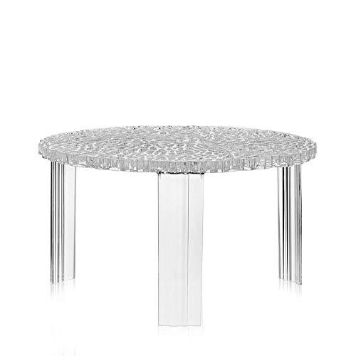 Kartell T-Table table blasse h.28 cm transparente cristal