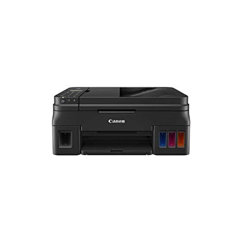 Canon PIXMA G4511 MegaTank Drucker nachfüllbares Farbtintenstrahl Multifunktionssystem DIN A4 (Drucken, Scannen, Kopieren, Fax, 4.800 x 1.200 dpi, Print App, ADF, WLAN, niedrige Seitenkosten), schwarz