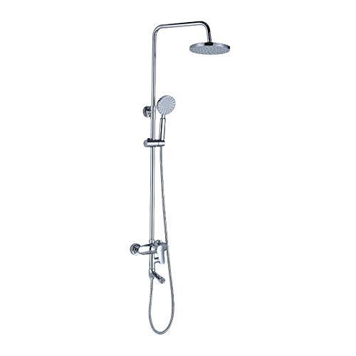 GWX Badkamerdouchesysteem, wanddoucheset, drie manieren beschikbaar om efficiënt te werken, kopermateriaal te Casten, kan aan de hoogte van de kop van de douche worden aangepast.