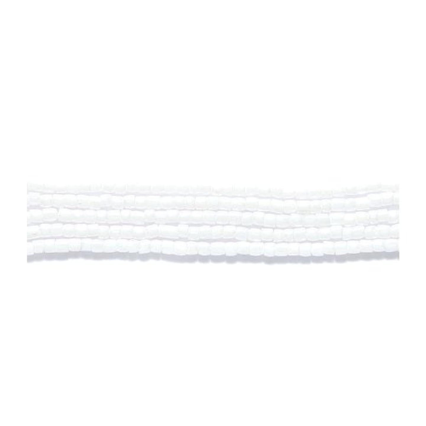 Preciosa Ornela Czech 3-Cut Style Seed Glass Bead, Size 9/0, Luster Opaque White ofzckzcvoagi