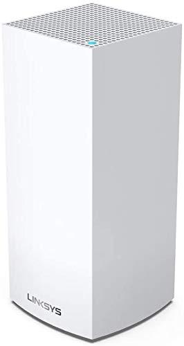 Linksys MX4200-EU Sistema WiFi 6 Mesh per Casa Serie Tri-Band Velop MX4200, Router Extender WiFi AX4200, Copertura fino a 260 m², Confezione da 1, Bianco