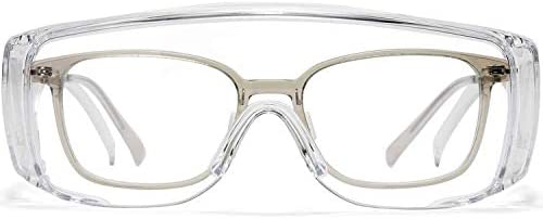 MALYHO Safety Goggles Anti Fog Eye Protection Glasses Lightweight Dustproof Over Glasses Lab product image