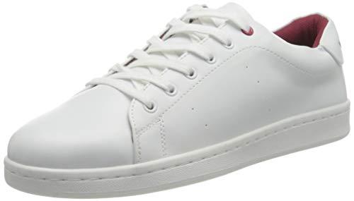 VERO MODA VMCELINE Sneaker, Zapatillas Mujer, Detail: W. Cabernet Snow White, 37 EU