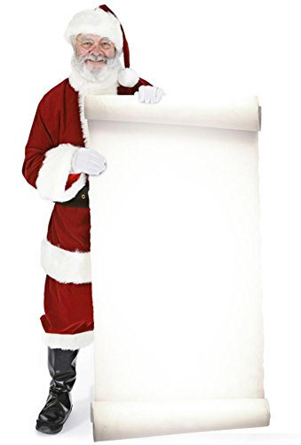 Star Cutouts, Santa with Large Sign Board, Cardboard Cutout Standup, Christmas Life-Size Stand-In - 70' x 38'