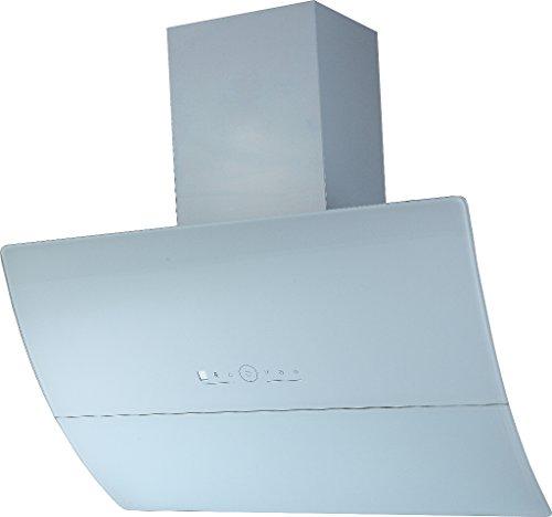 Dunstabzugshaube Kopffreihaube Wandhaube Saturn Edelstahl Schwarzglas 60/90 cm Abluft (90, weiß)