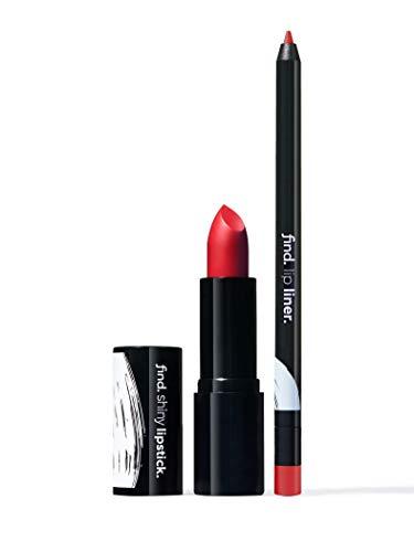 Amazon-Marke: find. Classic Choice (Lippenstift, glänzend n.1 + Lippenkonturstift n.9)