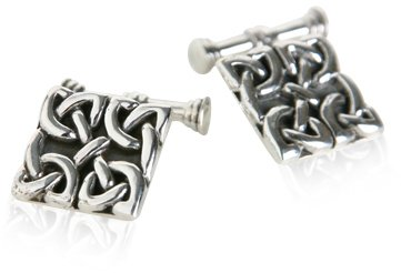Celtic Knot Cufflinks Sterling Silver 925 Cuff Links Irish Traditional