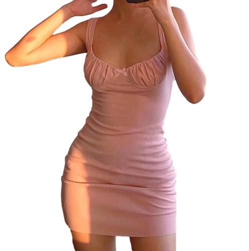 Vestido Casual de Verano para Mujer, Ropa de Fiesta, Hombros Descubiertos, Pliegues sin Espalda, Minivestido Elegante y Sexy, Blanco