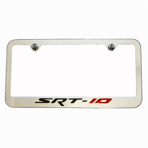 High-End Motorsports SRT-10 Chrome License Plate Frame - Dodge Viper RAM SRT10 SRT-10