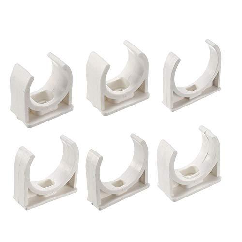 Xinger PVC Suministro de Agua Abrazadera de Tubo Clips Accesorios Diámetro Interior 20 mm 25 mm 32 mm 40 mm 50 mm Accesorios, 20 Paquetes 40 mm