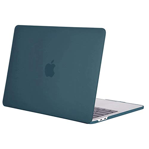 MOSISO MacBook Pro 13 inch Case 2020 2019 2018 2017 2016 Release A2338 M1 A2289 A2251 A2159 A1989 A1706 A1708, Plastic Hard Shell Case Cover Compatible with MacBook Pro 13 inch, Deep Teal