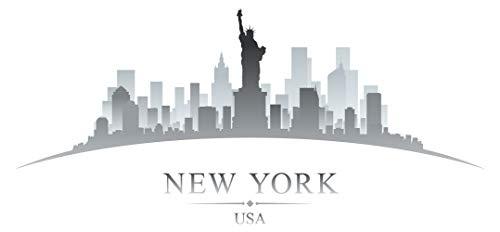 Wandtattoo Wohnzimmer Skyline Wandtattoo Stadt New York mit Freiheitsstatue Des