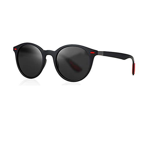 Gafas de sol polarizadas Hombre Mujer/Deportes Gafas reflectantes con verano Deportes al aire libre Conducción Pesca Montañismo Gafas de sol Hombres (P26 Gris Negro)