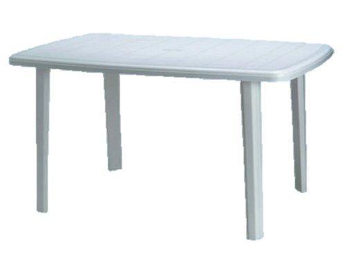 Grandsoleil Secur Resina Saint Moritz Greenpol Table Ovale, Vert, polymère, Blanc, 140 x 85 x 73 cm