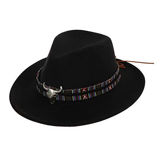 ABOOFAN Western Cowboy Hut Erwachsene Cowboy Cattleman Hut Kappe Cowboy Kostüm Outfit für Damen Herren