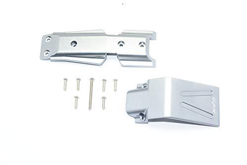 Traxxas E-Revo 2.0 VXL Brushless (86086-4) Upgrade Parts Aluminium Front Skid Plate - 2Pc Set Grey Silver
