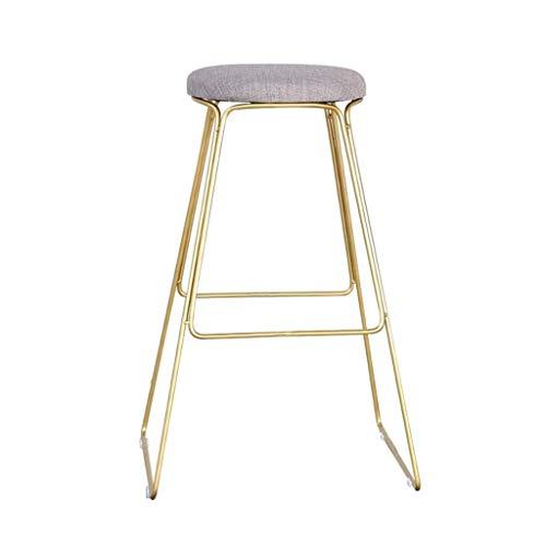 QJY Esszimmerstuhl weichen Beutel Gold Metallbeine zurück Esstisch und Stühle Mode lässig Make-up Stuhl Restaurant Café Barstuhl (Size : 65cm)