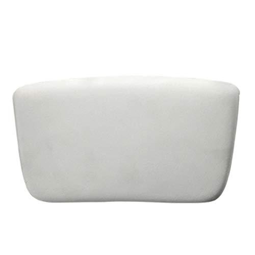 DZDESIGN Oreiller de Baignoire Confortable Spa Dos Nuque Oreillers de Bain Carré Coussin de Coussin de Bain Rond en Forme de Cou, carré Blanc