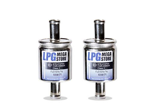 2x Gasfilter 14mm Autogas, LPG, GPL Filter Universal (4,45€ pro Einheit)