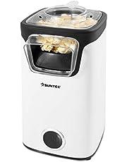 SUNTEC varmlufts popcornmaskin POP-8618 Fettfri | Popcorn utan fett och olja | Popcornmaskin för hemmet | Söt eller salt popcorn | Platsbesparande mini-popcorntillverkare | Maskin med lock
