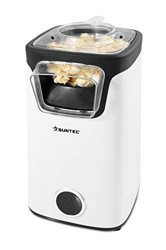 SUNTEC Palomitero para hacer palomitas de maiz | Maquina electrica de popcorn | Cocinar con aire caliente sin grasa ni aceite | Palomitas dulces con azucar o sal | Cine en casa | POP-8618 Fat Free