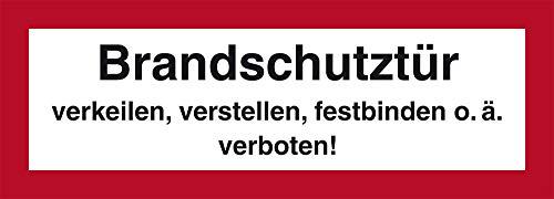 H.Klar Aufkleber Brandschutztür verkeilen, verstellen, festbinden o.ä. verboten! 74x210mm