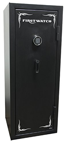 Read About First Watch BH50136140 14-Gun Black Hills Series Fire-Resistant Electronic Safe, Black Po...