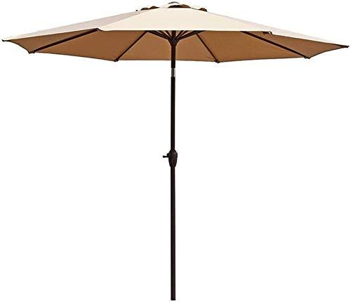 Sun Parasol Outdoor Parasol Garden Patio Umbrella Crank/Tiltable/Round/UV Protection, For Beach Gazebo Balcony Terrace Coffee Table Fishing/Market - Without Base mwsoz (Size : Khaki)